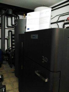 caldera de biomasa en Montaberner