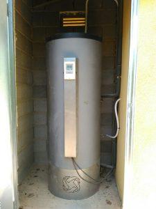 energía termosolar acumulador en camping el Palomar