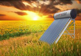 Agua caliente por enería solar
