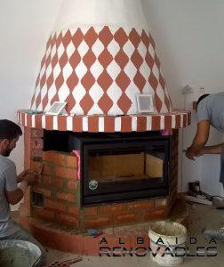 estufa de leña insertable en Bufalí