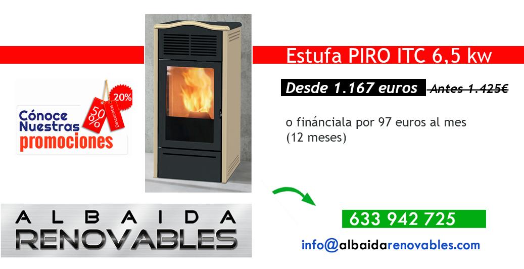 Estufa PYRO Piro ITC 6,5 Kw Albaida Alcoy Alicante Valencia Ontinyent