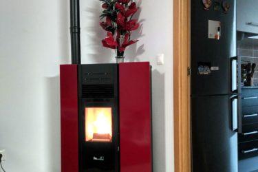 Estufa de pellet en l´Olleria calefacción biomasa