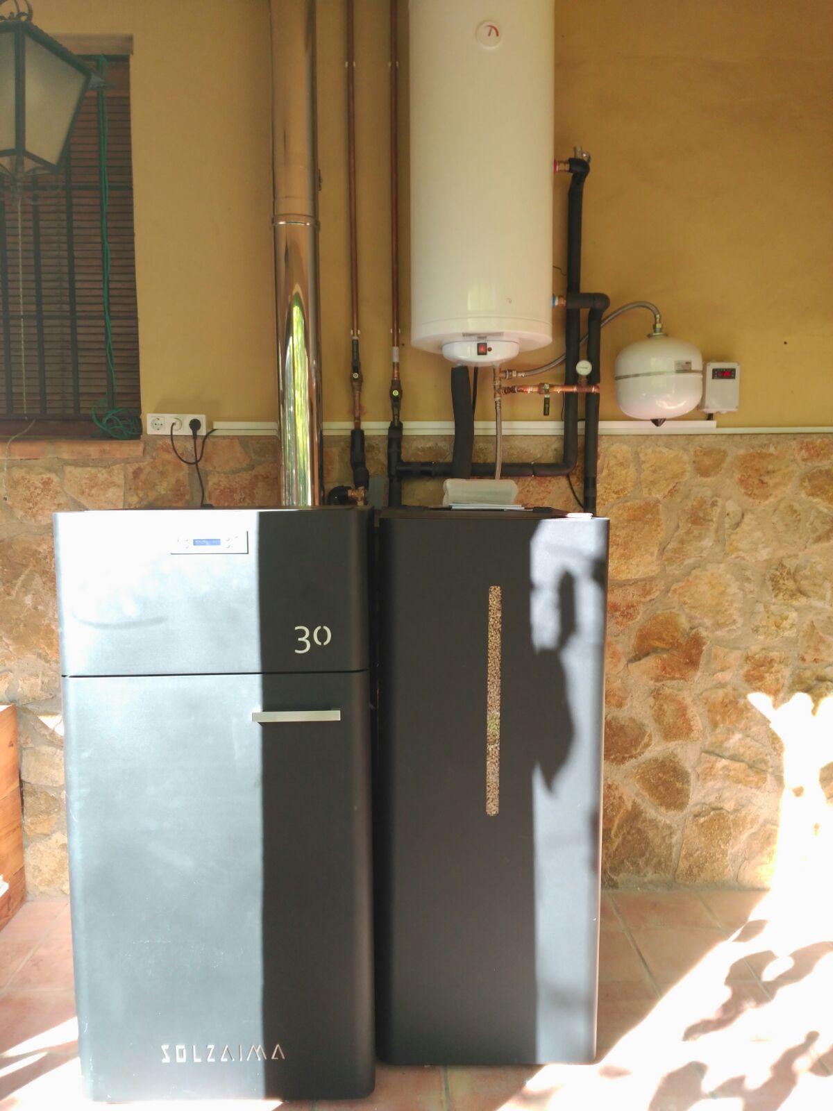 Caldera pellets 30kw en Gandía
