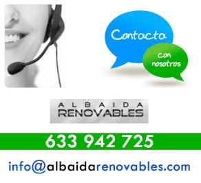 Contacta con albaida renovables